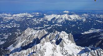 Let balónem přes Alpy