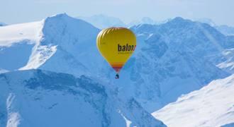Let balónem v Alpách